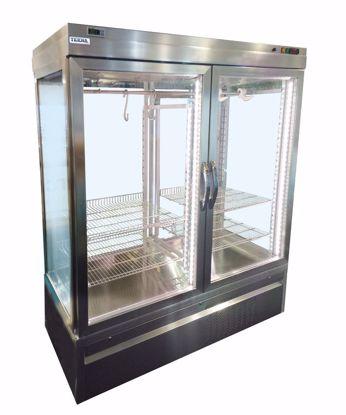 Vlees-Vis koelvitrine  - CAR 4 NFP - Tekna - (4 zijden glas)