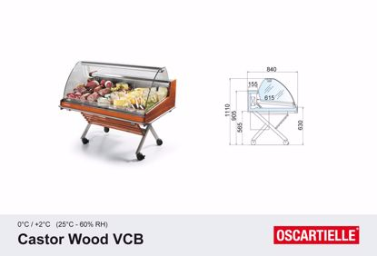 Koeltoonbank - CASTOR WOOD VCB 1262 - Oscartielle