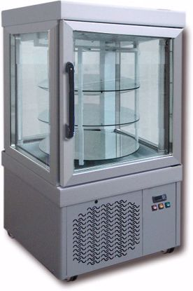 Gebaksvitrine - 0144 PV ALUMINIUM - Tekna - (4 zijden glas)