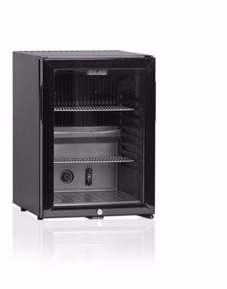 Minibar CTM42G Zwart met glasdeur (absorptiesysteem)