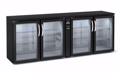 Backbar koelkast - SBEP-220 - 4 deurs - Coreco - (zonder koelmachine)