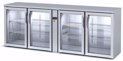Backbar koelkast - SBIEP-220 - 4 deurs - Coreco - (zonder koelmachine)