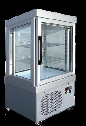 Gebaksvitrine - 0044 PV BRONS - Tekna - (4 zijden glas)