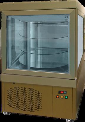 Gebaksvitrine - 0144 PV BRONS - Tekna - (4 zijden glas)