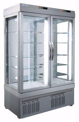 Gebaksvitrine - 7300 P ALUMINIUM - Tekna - (1 zijde glas)