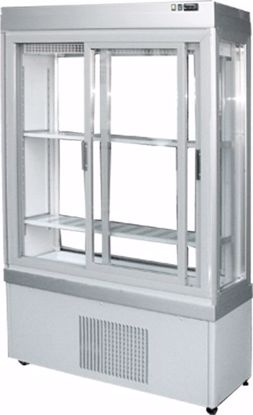 Gebaksvitrine - 9400-S P ALUMINIUM - Tekna - (4 zijden glas)