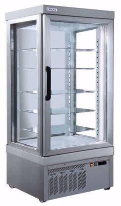 Gebaksvitrine - 9300 P ALUMINIUM - Tekna - (2 zijden glas)