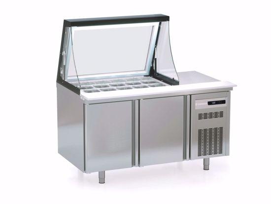 Saladette - PC80-150-15-LGL - Coreco - (met glasdeksel)