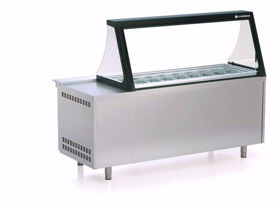 Saladette - PC80-200-15-LGL - Coreco -  (met glasdeksel)