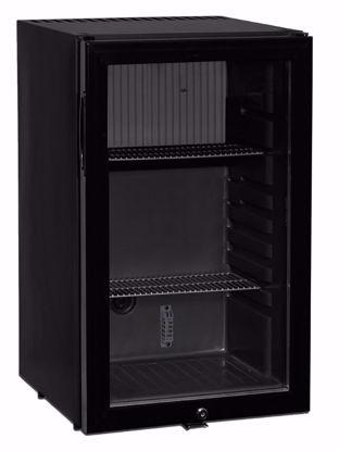 Minibar CTM52G Zwart met glasdeur (absorptiesysteem)